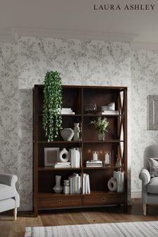 Laura Ashley Balmoral Dark Chestnut 2 Drawer Double Bookcase