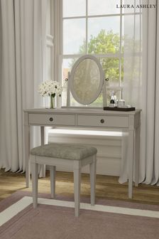 Eleanor 2 Drawer Dressing Table Stool and Mirror Set by Laura Ashley