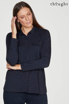 Thought Edith Tencel™ Printed Pocket Front Jersey Spot Shirt