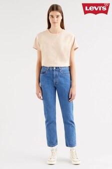 Levi's® 501® Crop Straight Fit Jeans