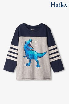 Hatley Grey Dino Roar Long Sleeve T-Shirt