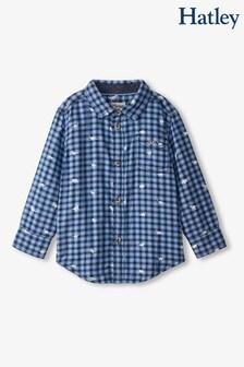 Hatley Blue Mini Dinos Button Down Shirt