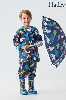 Hatley Blue Linework Dinos Colour Changing Raincoat