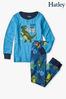 Hatley Blue Creepy Cryptids Glow In The Dark Appliqué Pyjama Set