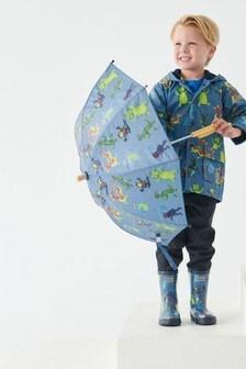 Hatley Blue Creepy Cryptids Raincoat