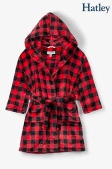 Hatley Kids Red Buffalo Plaid Fleece Christmas Robe
