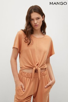 Mango Knotted Lyocell T-Shirt