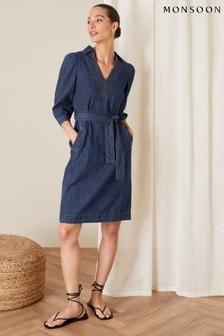 Monsoon Belted Denim Dress