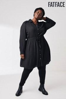 FatFace Black Astrid Shirt Dress