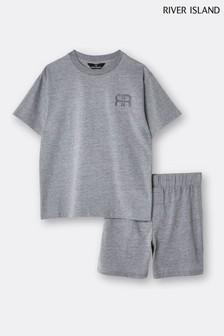 River Island Grey Tiger Stripe Pyjama Set
