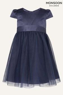 Monsoon Baby Blue Tulle Skirt Bridesmaid Dress