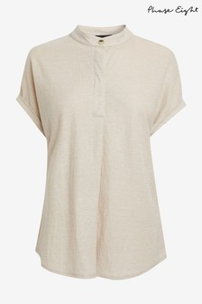 Phase Eight Neutral Kitty Jersey Top