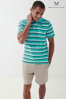 Crew Clothing Company Green Fairfax Stripe Polo Shirt