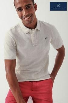 Crew Clothing Company Cream Classic Pique Polo Shirt