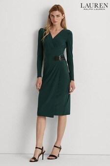 Lauren Ralph Lauren Green Nettie Dress