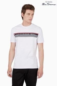 Ben Sherman White Radio Stripe T-Shirt