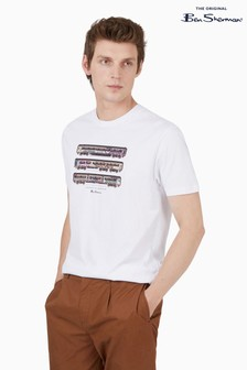 Ben Sherman White Train Stack T-Shirt