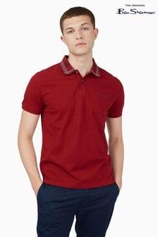 Ben Sherman Red Collar Interest Polo Shirt