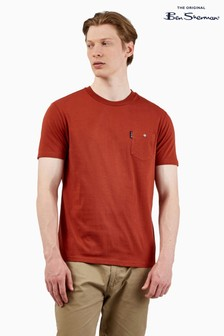 Ben Sherman Burnt Orange Signature Pocket T-Shirt