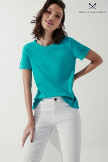 Crew Clothing Company Green Perfect Crew Slub T-Shirt
