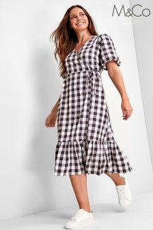 M&Co Gingham Print Dress
