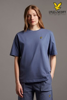 Lyle & Scott Blue Oversized T-Shirt