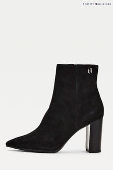 Tommy Hilfiger Black Th Hardware Heeled Boots