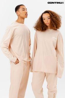 Continu8 Unisex Nude Long Sleeve T-Shirt