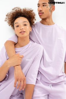 Continu8 Unisex Lilac Oversized T-Shirt