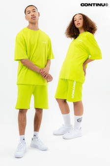 Continu8 Unisex Neon Green Jersey Shorts
