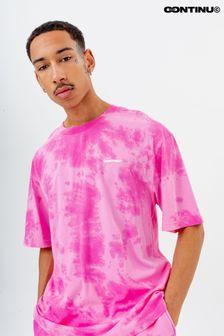 Continu8 Unisex Tonal Pink Tie Dye Oversized T-Shirt