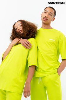 Continu8 Unisex Neon Green Oversized T-Shirt
