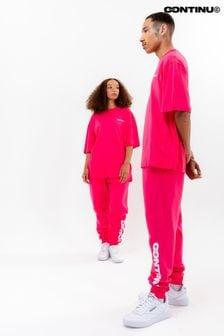 Continu8 Unisex Pink Oversized T-Shirt