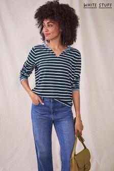 White Stuff Natural Long Sleeve Nelly Stripe T-Shirt