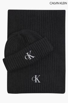 Calvin Klein Wool Beanie And Scarf Set