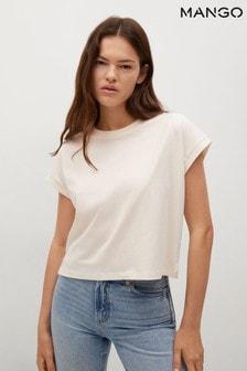 Mango Essential Cotton Blend T-Shirt