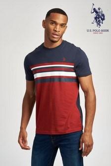 U.S. Polo Assn. Red Sporty Stripe T-Shirt