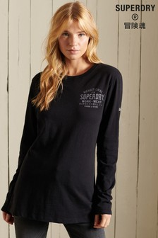 Superdry Black Out Long-Sleeve Top