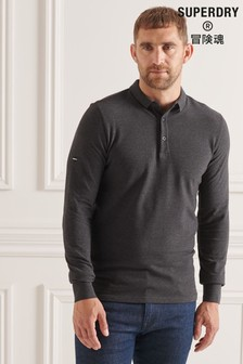 Superdry Grey Studios Organic Cotton Pique Polo Shirt