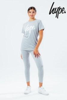 Hype. Girls Script T-Shirt and Legging Set