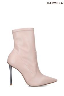 Carvela Pink Sharp Bootie Boots