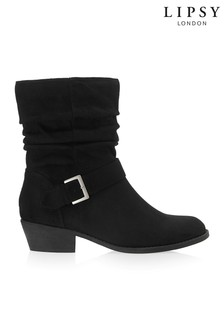 Lipsy Ruched Ankle Boots