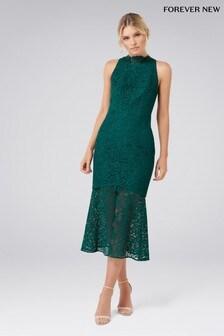Forever New Lace Fishtail Sleeveless Midi Dress