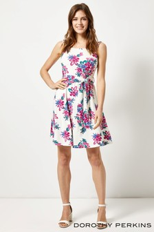 Dorothy Perkins Floral Ruffle Fit & Flare Dress