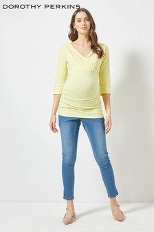 Dorothy Perkins Maternity Ruched Wrap Top