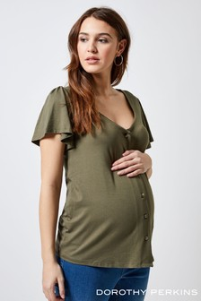 Dorothy Perkins Maternity Sweetheart Button Top