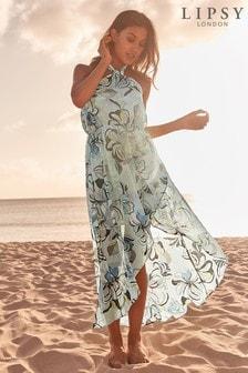 Lipsy Swirl Print Maxi Beach Dress