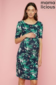 Mamalicious Maternity Jersey Printed Maternity Dress