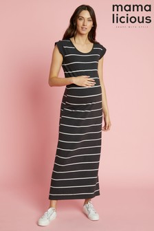 Mamalicious Maternity Striped Maxi Dress