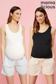 Mamamlicious Maternity Tank Top - 2 Pack